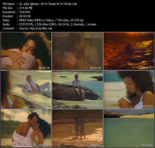 Julio Iglesias video screenshot