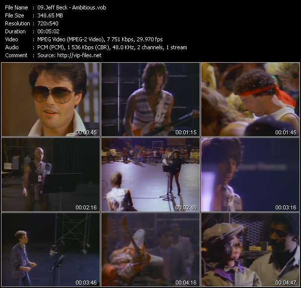 Jeff Beck video screenshot