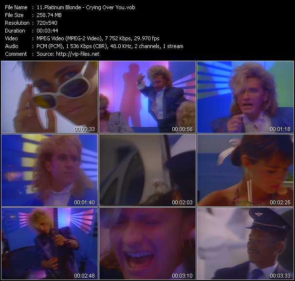 Platinum Blonde video screenshot
