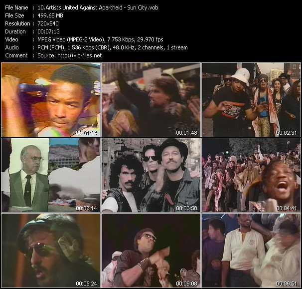 Artists United Against Apartheid video screenshot