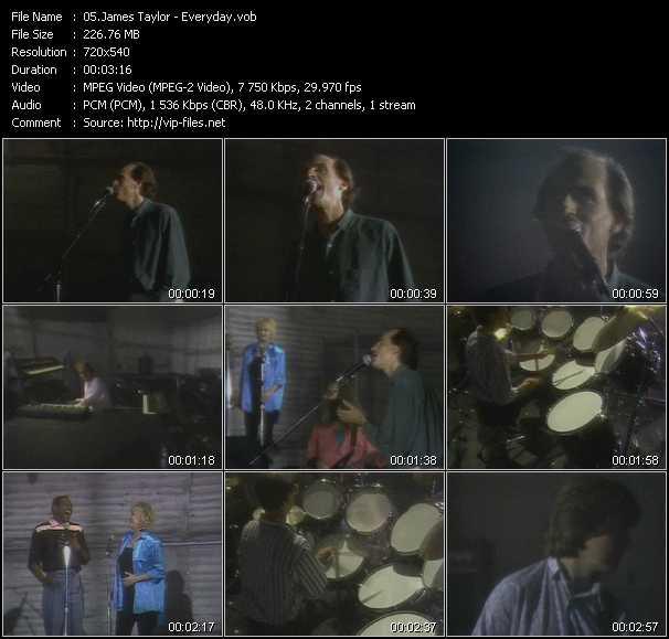 James Taylor video screenshot