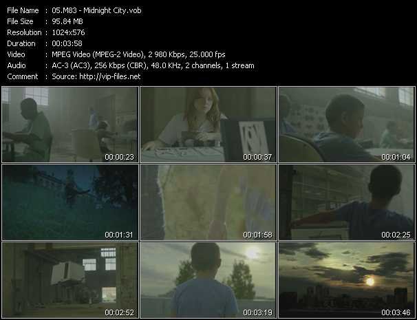 M83 video screenshot