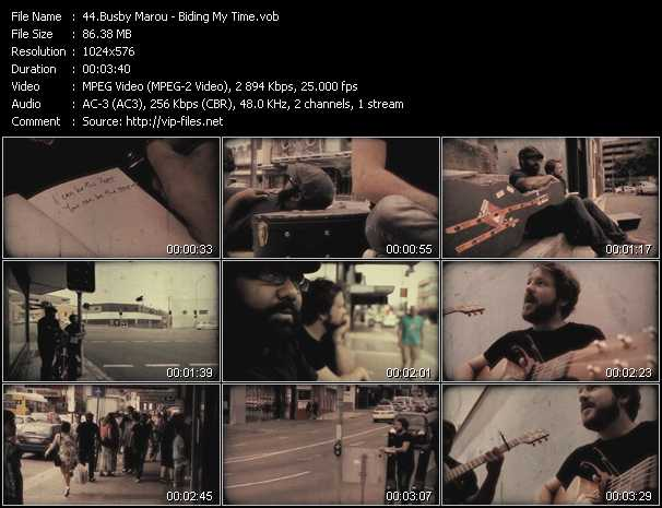 Busby Marou video screenshot
