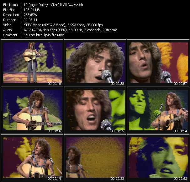 Roger Daltrey video screenshot