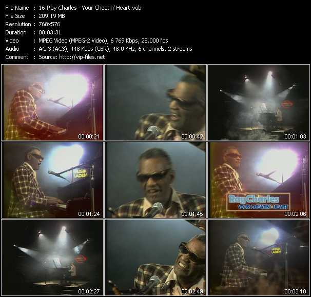 Ray Charles video screenshot