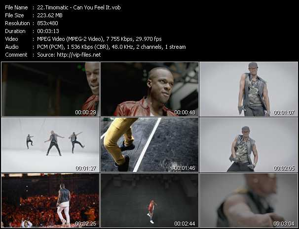 video Can You Feel It screen